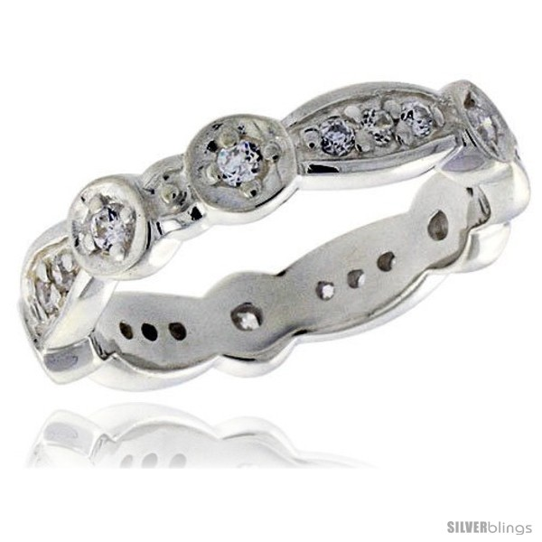 https://www.silverblings.com/3717-thickbox_default/highest-quality-sterling-silver-3-16-in-4-mm-wide-fancy-oval-links-ladies-band-brilliant-cut-cz-stones.jpg