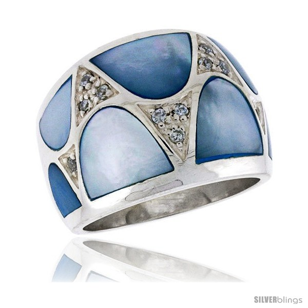 https://www.silverblings.com/3721-thickbox_default/highest-quality-sterling-silver-5-8-in-16-mm-wide-ladies-dome-band-blue-mother-of-pearl-brilliant-cut-cz-stones.jpg