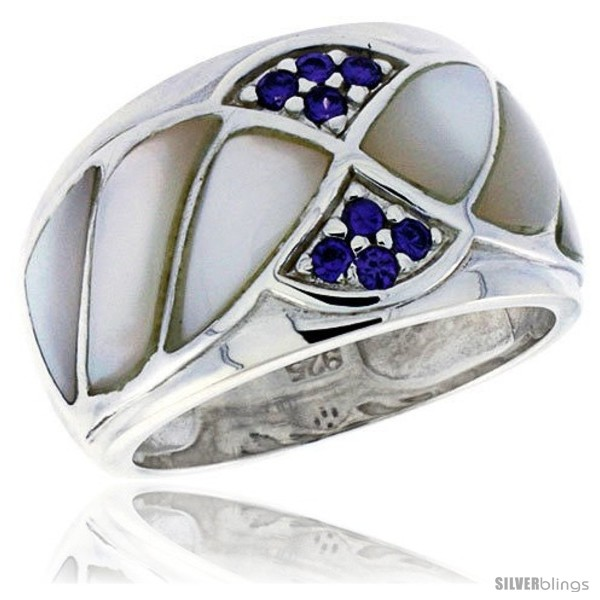 https://www.silverblings.com/3723-thickbox_default/highest-quality-sterling-silver-1-2-in-15-mm-wide-ladies-dome-band-mother-of-pearl-brilliant-cut-amethyst-colored-cz.jpg