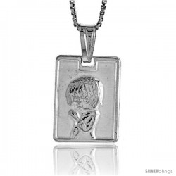 Sterling Silver Boy Pendant, Made in Italy. 5/8 in. (17 mm) Tall