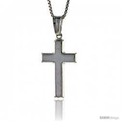 Sterling Silver Cross Pendant, Made in Italy. 15/16 in. (23 mm) Tall