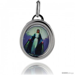 Sterling Silver Immaculate Conception of Mary Charm Made in Italy 3/4 in tall