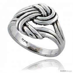 Sterling Silver Knot Ring 1/2 in wide, 1/2 in wide