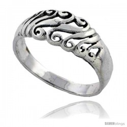 Sterling Silver Swirl Ring 5/16 in wide