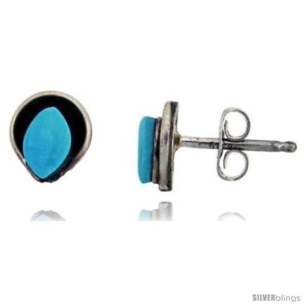 https://www.silverblings.com/38127-thickbox_default/sterling-silver-handcrafted-blue-turquoise-oval-stud-earrings-genuine-zuni-tribe-american-indian-jewelry-1-4-in-7-mm.jpg