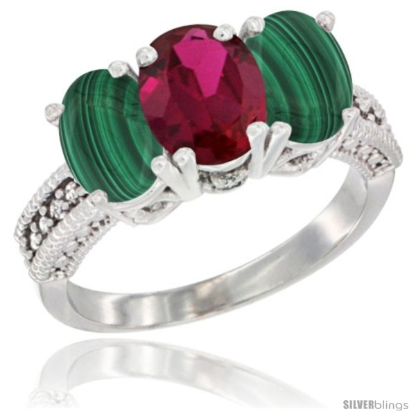 https://www.silverblings.com/38135-thickbox_default/10k-white-gold-natural-ruby-malachite-sides-ring-3-stone-oval-7x5-mm-diamond-accent.jpg