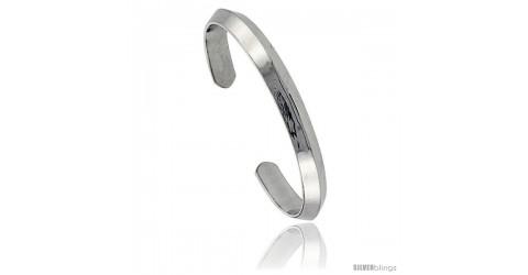 Sterling Silver Heavy Gauge Triangular Wire Cuff Bangle Bracelet 5 ...