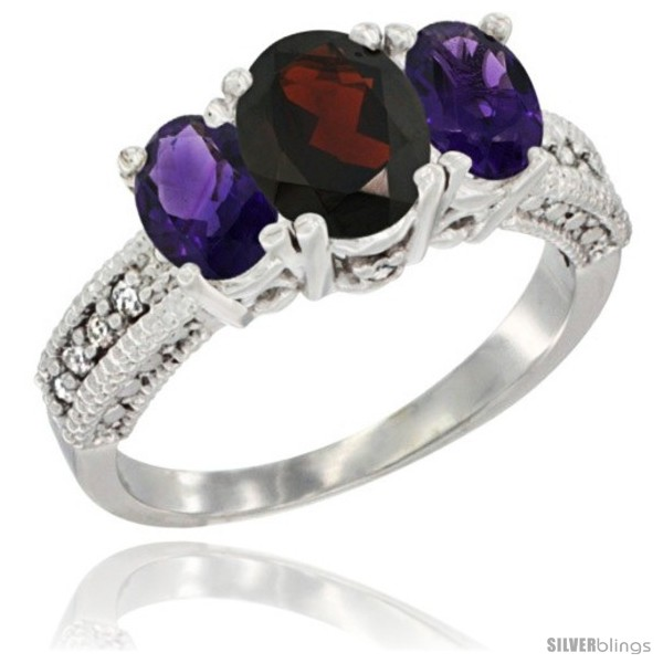 https://www.silverblings.com/38368-thickbox_default/10k-white-gold-ladies-oval-natural-garnet-3-stone-ring-amethyst-sides-diamond-accent.jpg