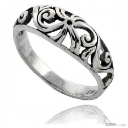 Sterling Silver Floral Vine Ring