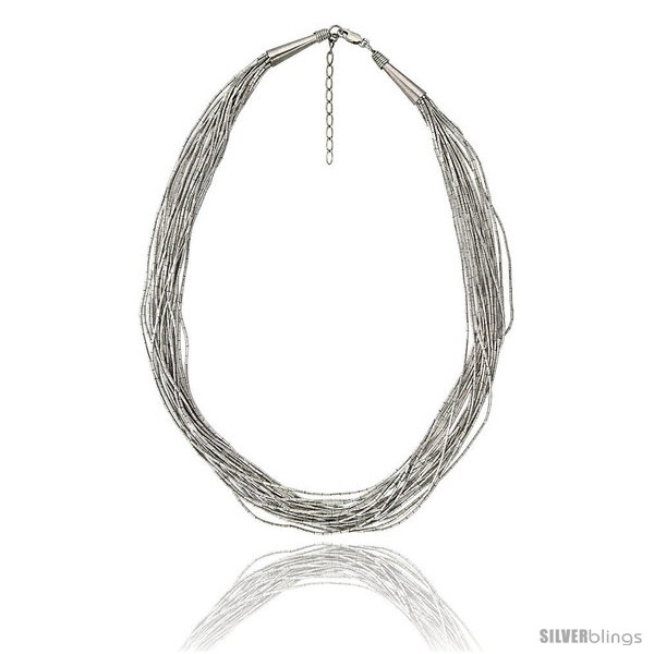 https://www.silverblings.com/38457-thickbox_default/sterling-silver-liquid-silver-necklace-20-strands-18-in-45-cm-long--2-in-extention-wire-wrapped-cone-caps.jpg