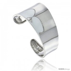 Sterling Silver Tapered Polished Cuff Bangle