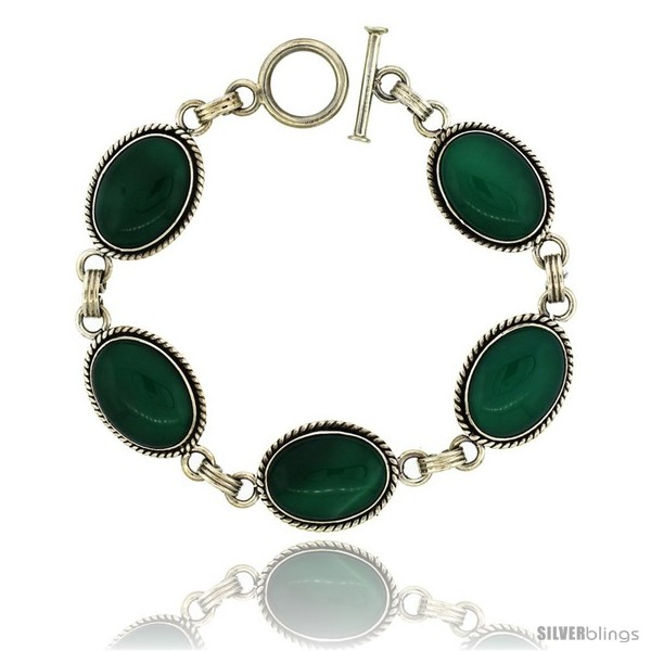 https://www.silverblings.com/39416-thickbox_default/sterling-silver-oval-malachite-stone-link-bracelet-toggle-clasp-11-16-in-wide-7-5-in.jpg