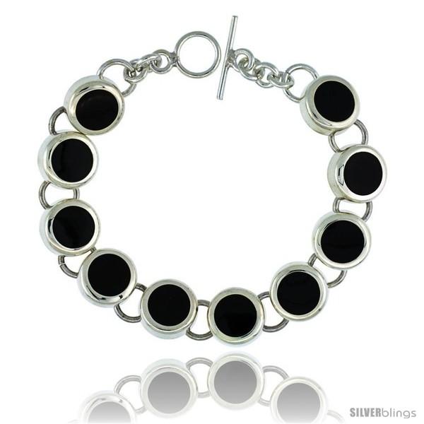 https://www.silverblings.com/39422-thickbox_default/sterling-silver-round-black-obsidian-stone-link-7-5-bracelet-w-toggle-type-lock-9-16-in-wide.jpg