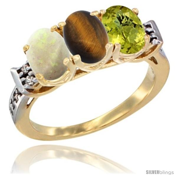 https://www.silverblings.com/39587-thickbox_default/10k-yellow-gold-natural-opal-tiger-eye-lemon-quartz-ring-3-stone-oval-7x5-mm-diamond-accent.jpg