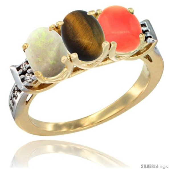 https://www.silverblings.com/39589-thickbox_default/10k-yellow-gold-natural-opal-tiger-eye-coral-ring-3-stone-oval-7x5-mm-diamond-accent.jpg