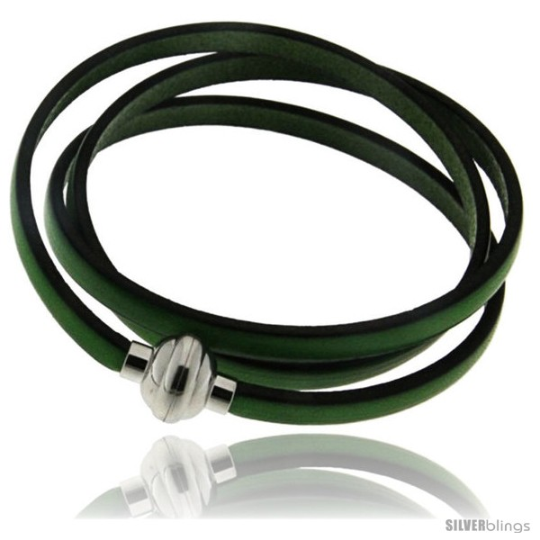 https://www.silverblings.com/396-thickbox_default/surgical-steel-italian-leather-wrap-massai-bracelet-w-super-magnet-clasp-color-green.jpg