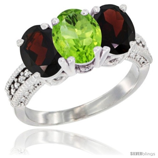 https://www.silverblings.com/3970-thickbox_default/14k-white-gold-natural-peridot-garnet-sides-ring-3-stone-7x5-mm-oval-diamond-accent.jpg