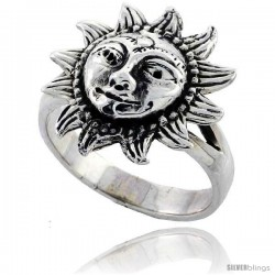 Sterling Silver Large Sun Ring