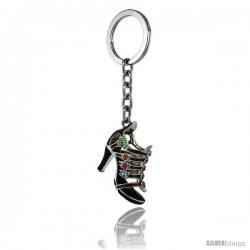 Purple High Heeled Shoe Sandal Key Chain, Key Ring, Key Holder, Key Tag, Key Fob, w/ Multi Color Brilliant Cut Swarovski
