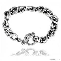 Sterling Silver Large Rolo Link Bracelet
