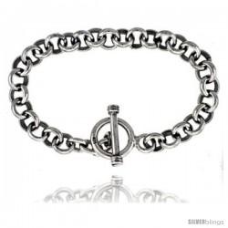 Sterling Silver Round Rolo Link Bracelet