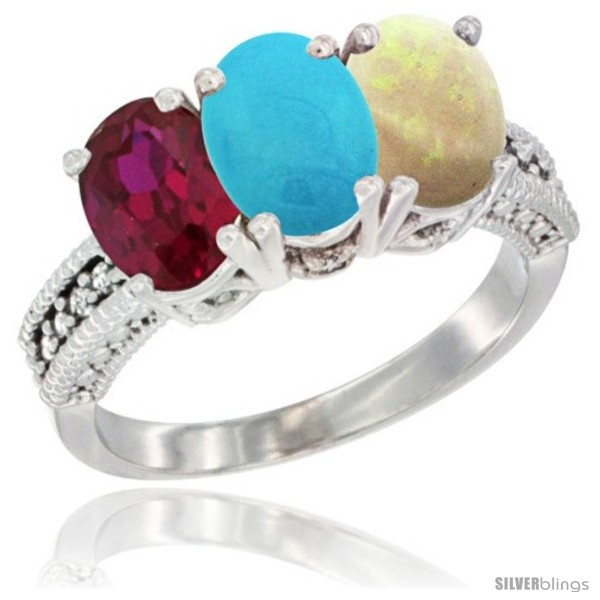 https://www.silverblings.com/4090-thickbox_default/10k-white-gold-natural-ruby-turquoise-opal-ring-3-stone-oval-7x5-mm-diamond-accent.jpg