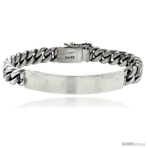 https://www.silverblings.com/40982-thickbox_default/sterling-silver-cuban-curb-link-mens-id-bracelet-5-16-in-wide.jpg