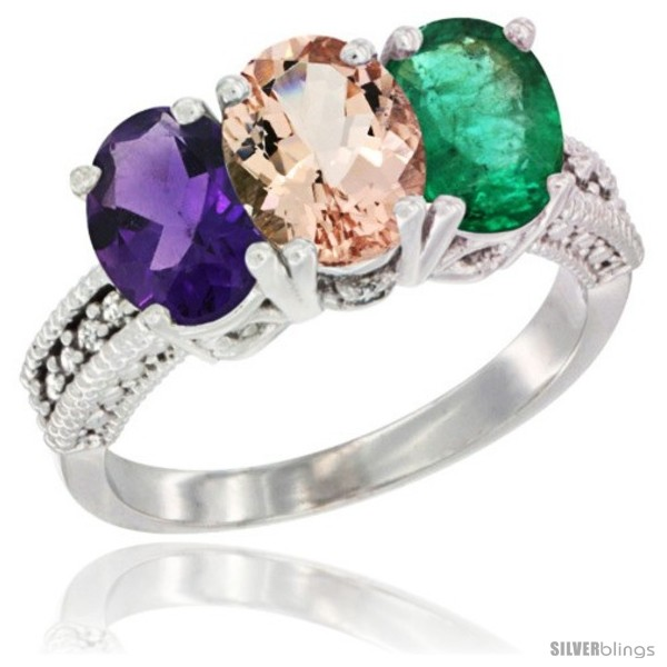 https://www.silverblings.com/41227-thickbox_default/10k-white-gold-natural-amethyst-morganite-emerald-ring-3-stone-oval-7x5-mm-diamond-accent.jpg