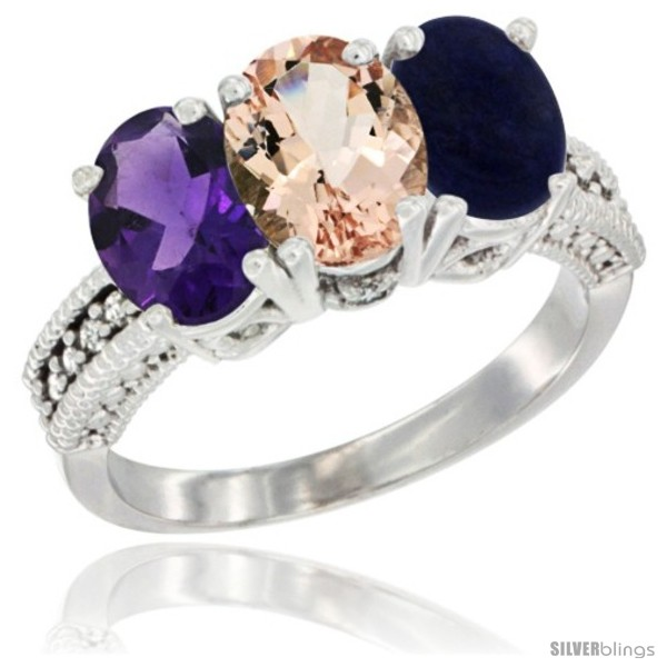 https://www.silverblings.com/41608-thickbox_default/10k-white-gold-natural-amethyst-morganite-lapis-ring-3-stone-oval-7x5-mm-diamond-accent.jpg