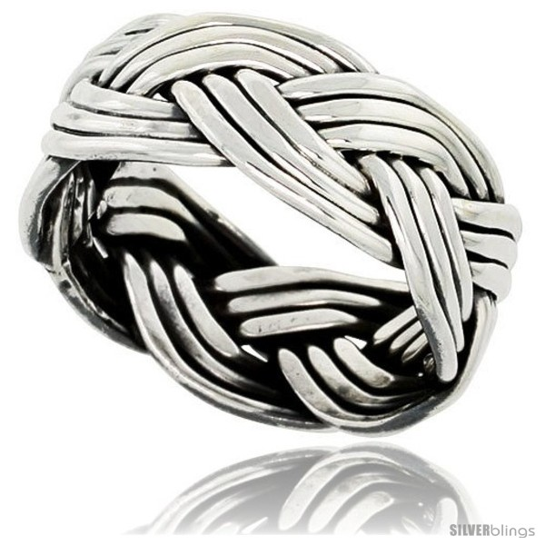 https://www.silverblings.com/41752-thickbox_default/sterling-silver-southwest-design-wire-braid-band-3-8-in-wide-handmade.jpg