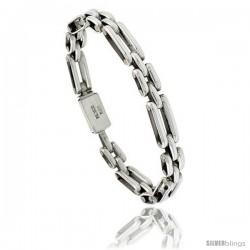 Sterling Silver Bar Link Bracelet 5/16 in wide