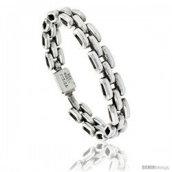 Sterling Silver Pantera Type Link Bracelet 1/2 in wide