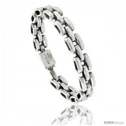 Sterling Silver Pantera Type Link Bracelet 1/2 in wide