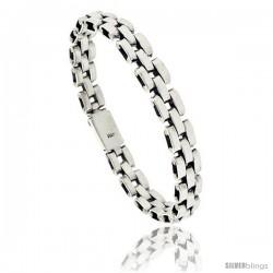 Sterling Silver Pantera Type Link Bracelet 1/2 in wide -Style Lx410