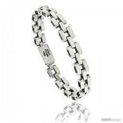 Sterling Silver Pantera Type Link Bracelet 3/8 in wide