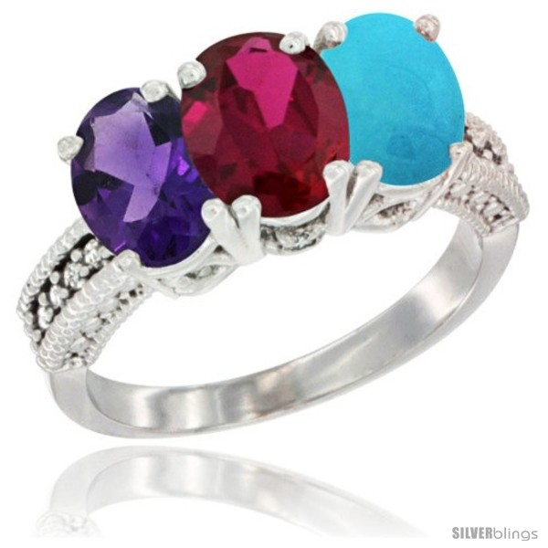 https://www.silverblings.com/41861-thickbox_default/10k-white-gold-natural-amethyst-ruby-turquoise-ring-3-stone-oval-7x5-mm-diamond-accent.jpg