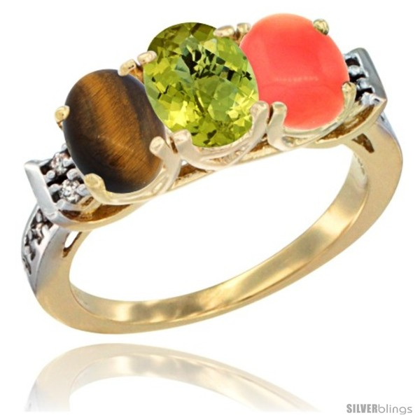 https://www.silverblings.com/41973-thickbox_default/10k-yellow-gold-natural-tiger-eye-lemon-quartz-coral-ring-3-stone-oval-7x5-mm-diamond-accent.jpg