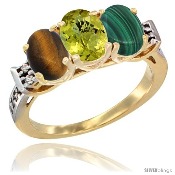 https://www.silverblings.com/41977-thickbox_default/10k-yellow-gold-natural-tiger-eye-lemon-quartz-malachite-ring-3-stone-oval-7x5-mm-diamond-accent.jpg