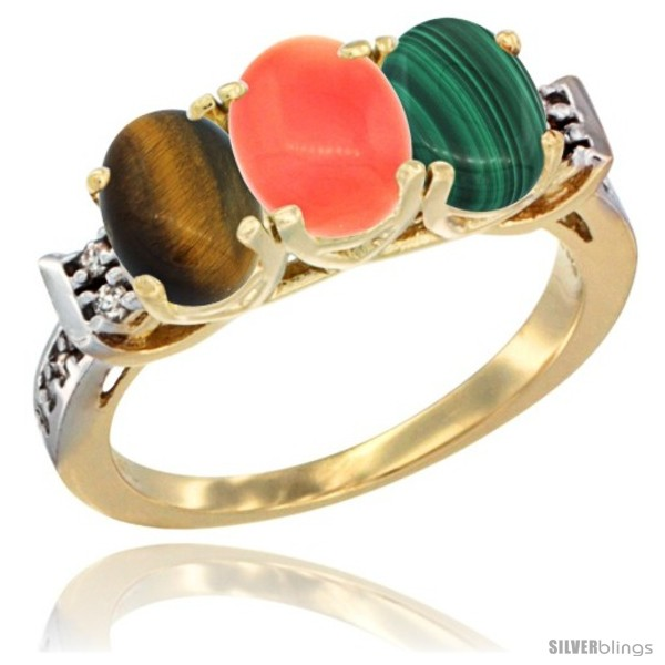 https://www.silverblings.com/41985-thickbox_default/10k-yellow-gold-natural-tiger-eye-coral-malachite-ring-3-stone-oval-7x5-mm-diamond-accent.jpg