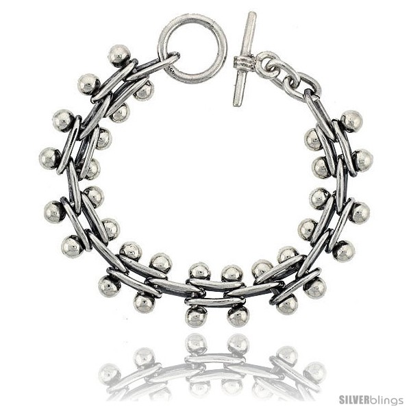 https://www.silverblings.com/42003-thickbox_default/sterling-silver-beaded-bar-link-bracelet-toggle-clasp-handmade-5-8-in-wide.jpg
