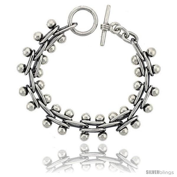 https://www.silverblings.com/42003-thickbox_default/sterling-silver-beaded-bar-link-bracelet-toggle-clasp-handmade-5-8-in-wide.jpg