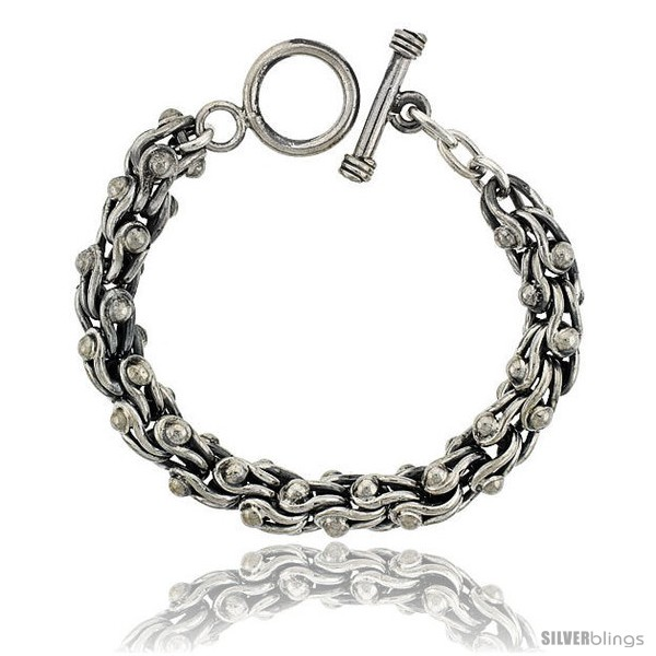 https://www.silverblings.com/42005-thickbox_default/sterling-silver-stirrups-link-bracelet-toggle-clasp-handmade-3-8-in-wide.jpg