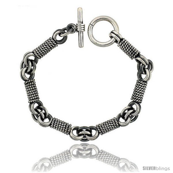 https://www.silverblings.com/42009-thickbox_default/sterling-silver-rope-wrapped-link-bracelet-toggle-clasp-handmade-3-8-in-wide.jpg