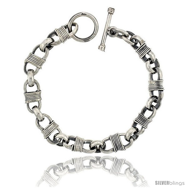 https://www.silverblings.com/42019-thickbox_default/sterling-silver-bullet-chain-link-bracelet-toggle-clasp-handmade-3-8-in-wide.jpg