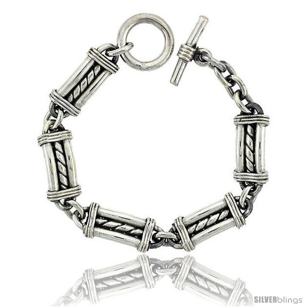 https://www.silverblings.com/42023-thickbox_default/sterling-silver-bullet-chain-link-bracelet-toggle-clasp-handmade-1-2-in-wide-style-lx430.jpg
