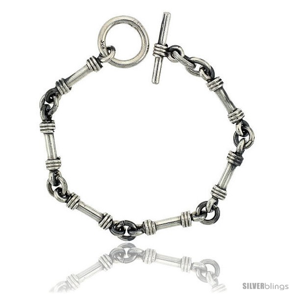 https://www.silverblings.com/42027-thickbox_default/sterling-silver-tube-bar-link-bracelet-toggle-clasp-handmade-1-4-in-wide.jpg