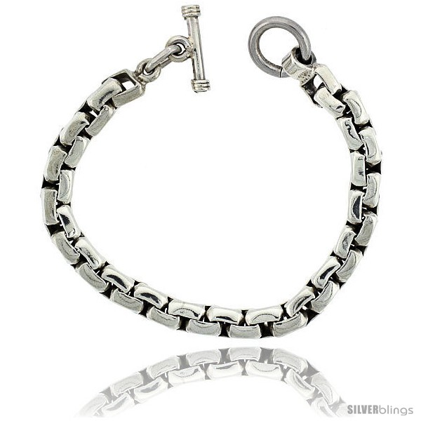 https://www.silverblings.com/42029-thickbox_default/sterling-silver-box-chain-link-bracelet-toggle-clasp-handmade-3-8-in-wide.jpg