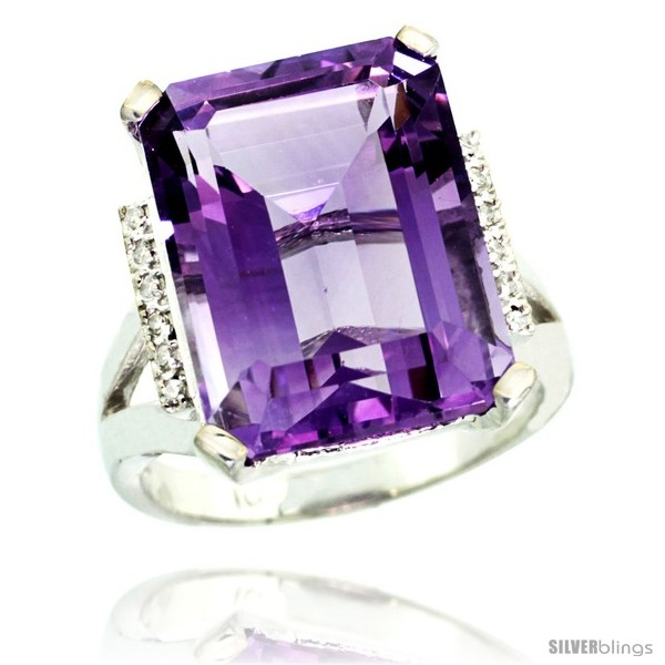 https://www.silverblings.com/42081-thickbox_default/10k-white-gold-diamond-amethyst-ring-12-ct-emerald-cut-16x12-stone-3-4-in-wide.jpg