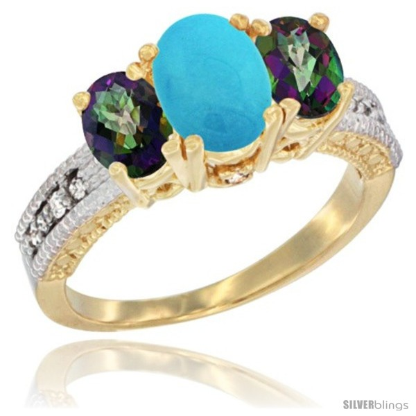 https://www.silverblings.com/42190-thickbox_default/14k-yellow-gold-ladies-oval-natural-turquoise-3-stone-ring-mystic-topaz-sides-diamond-accent.jpg