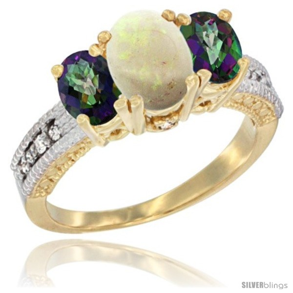 https://www.silverblings.com/42203-thickbox_default/14k-yellow-gold-ladies-oval-natural-opal-3-stone-ring-mystic-topaz-sides-diamond-accent.jpg